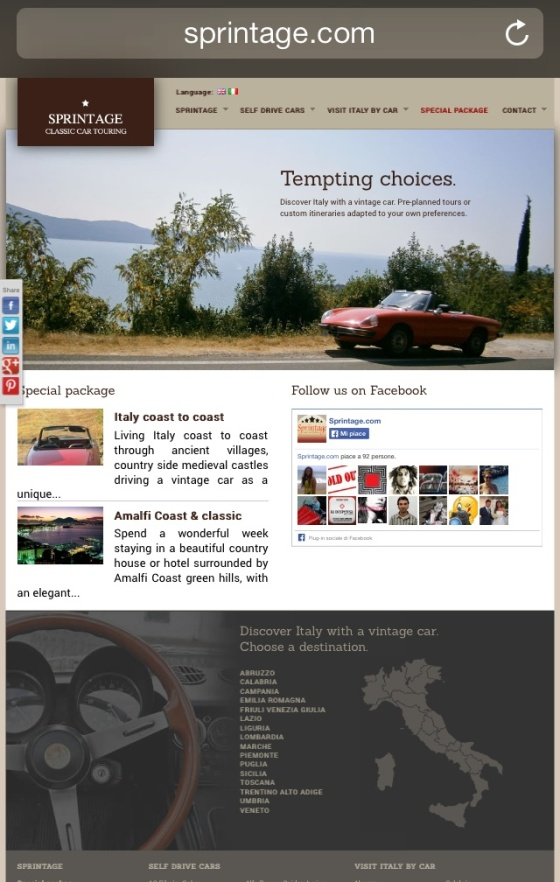 SPRINTAGE Discover Italy with a Vintage Car