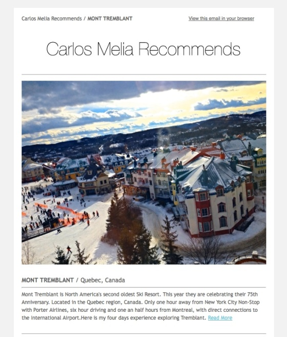 Carlos Melia Recommends MONT TREMBLANT